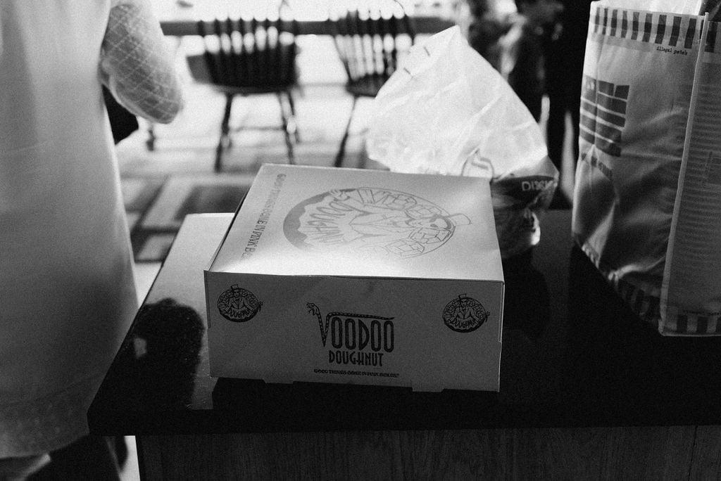 Voodoo donuts at wedding