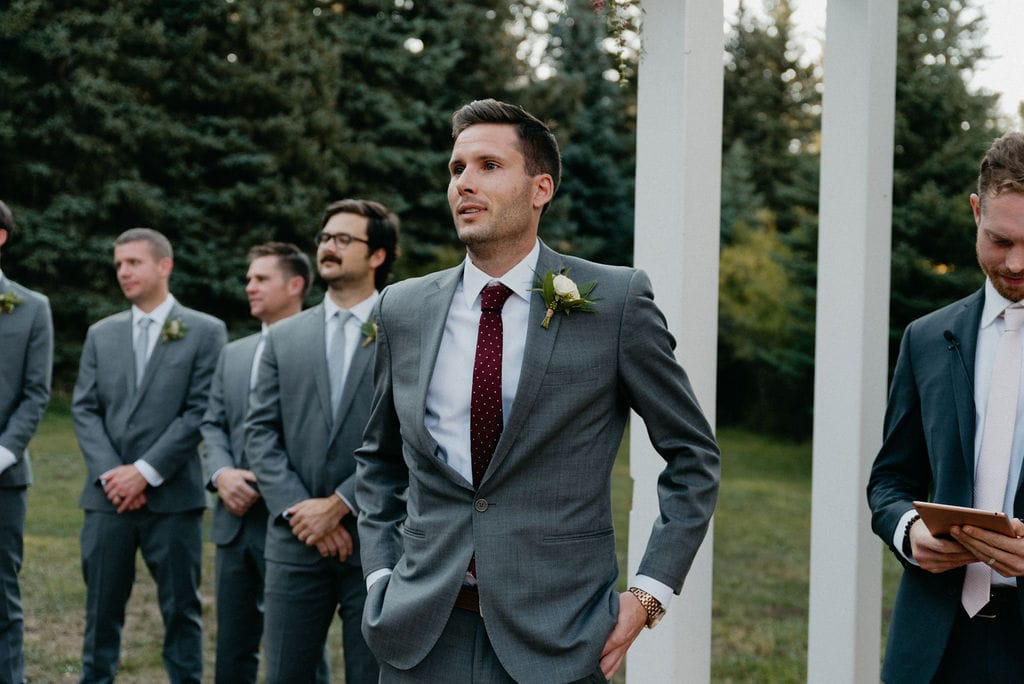 Groom waits for his bride