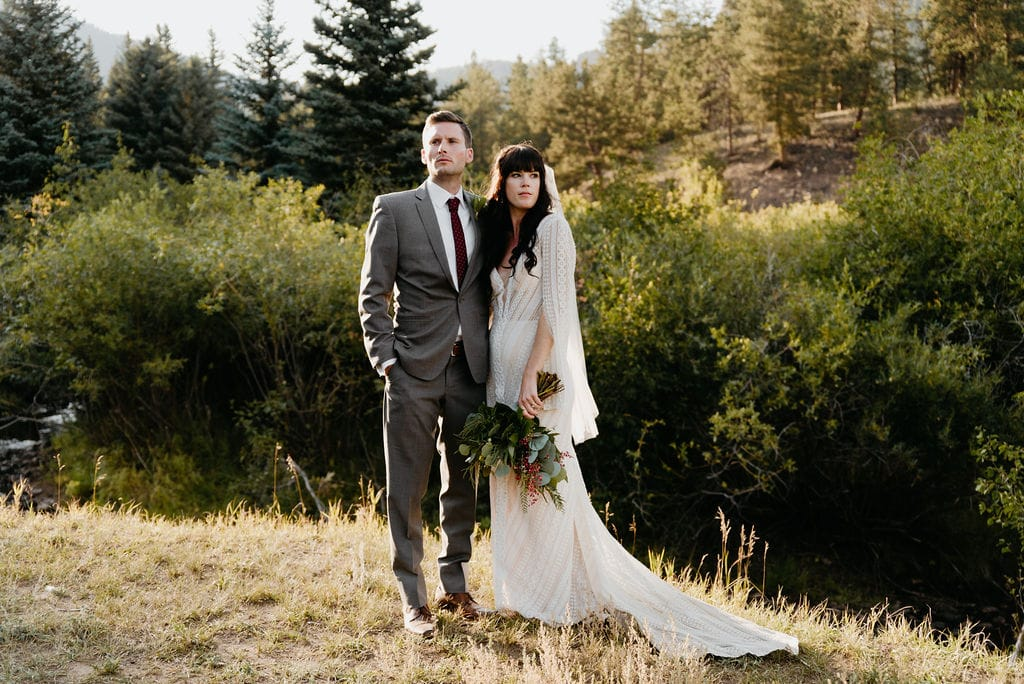 Mountain View Ranch Wedding Photographer in Pine