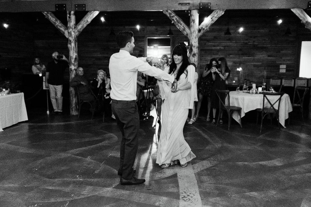 Mountain view ranch wedding reception