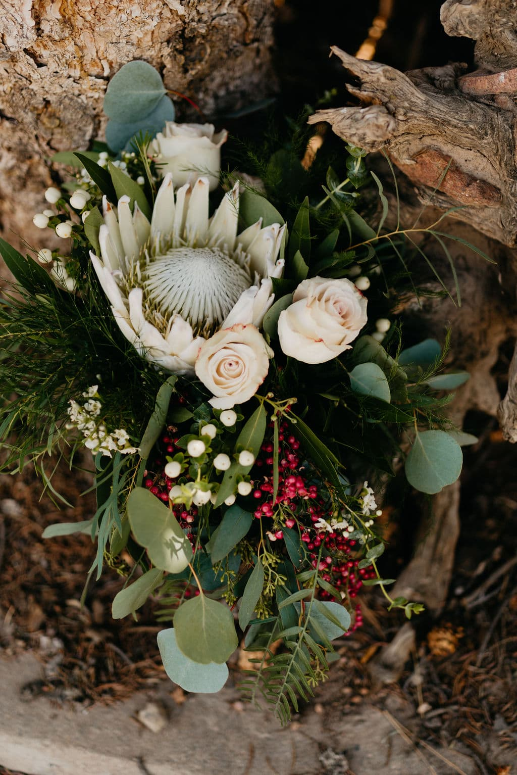 Beautiful Large Fall Colored Bridal Bouquet