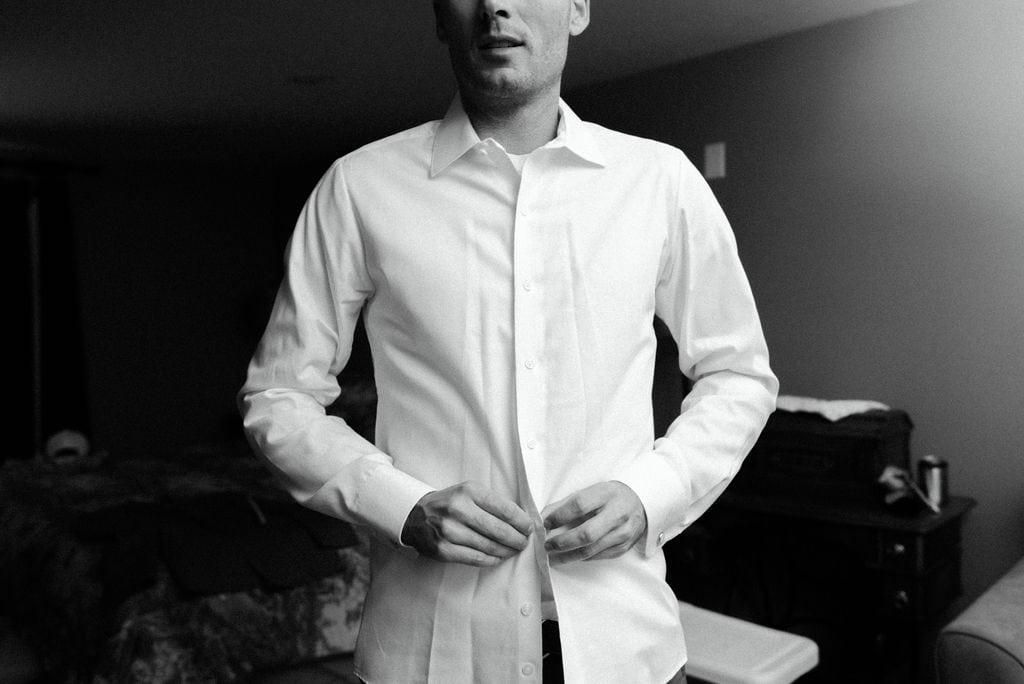 Groom button up shirt