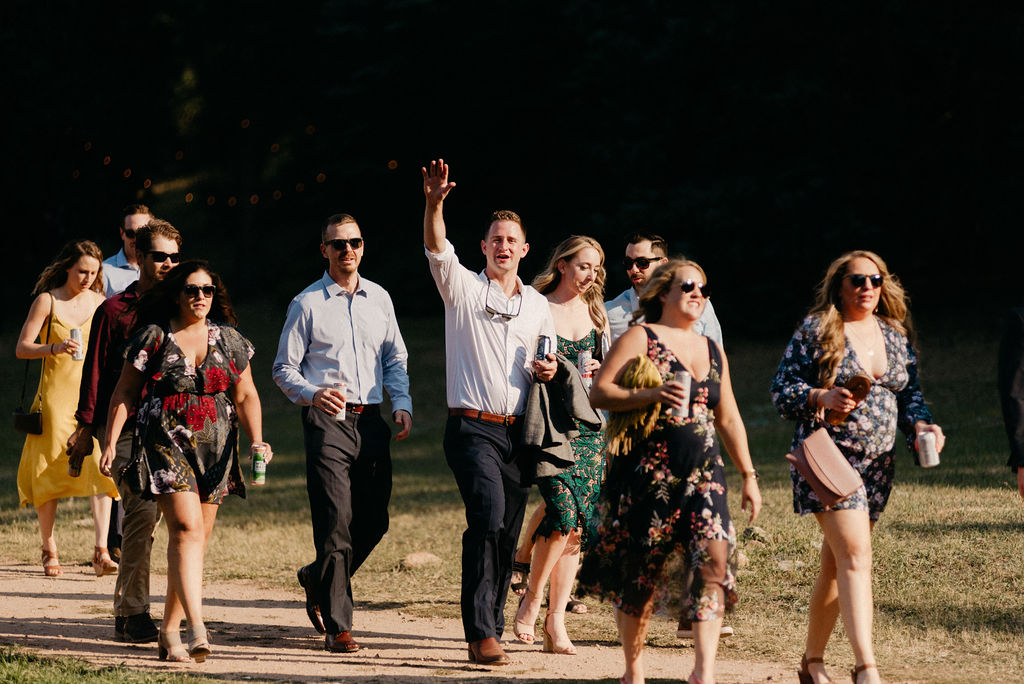 Guests at Mountain View Ranch Wedding Ceremony