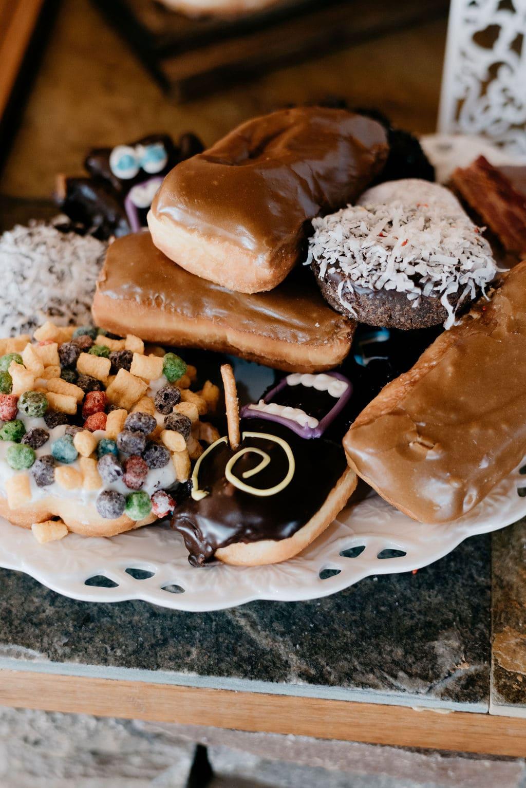 Donuts as desert for wedding