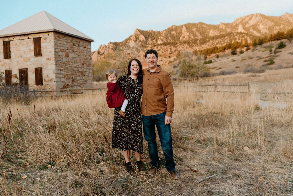 Boulder Family Session with Baby at South Mesa Trailhead