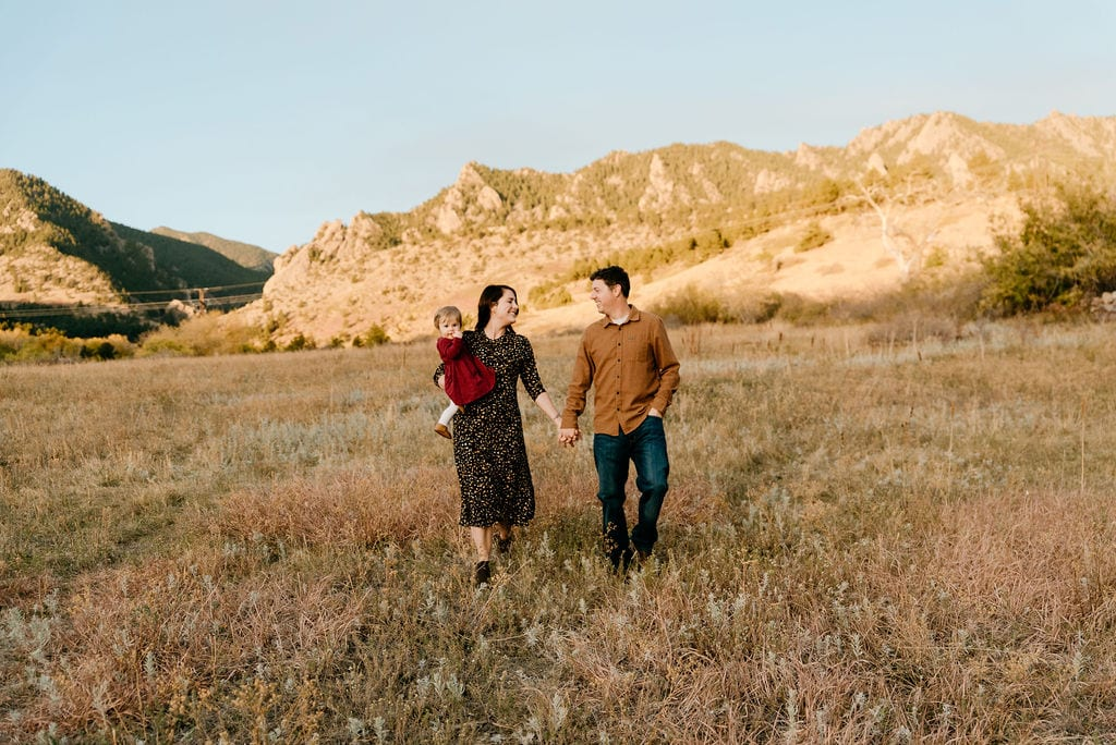 Boulder Family Session near the Flatirons at South Mesa Trailhead