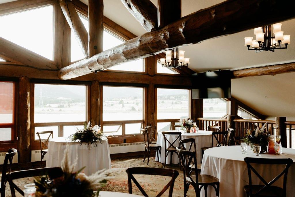 tuscan room wedding reception set up