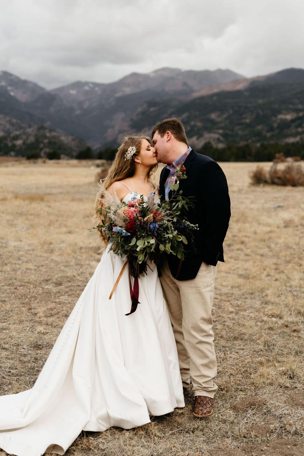 Moraine Park Wedding Portraits after Sprague Lake Elopement