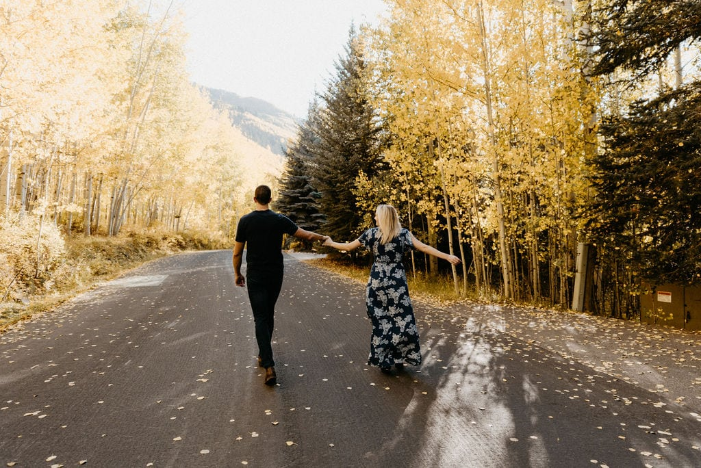 Fall Colors in Vail Colorado Engagement Session