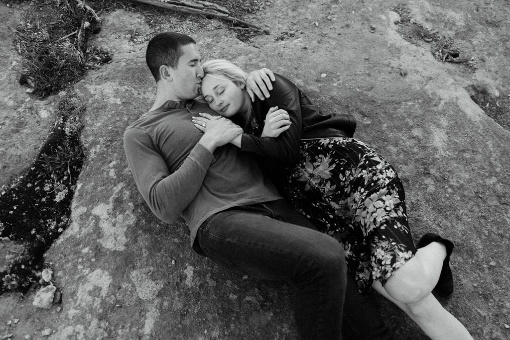 Romantic couples portraits in Vail