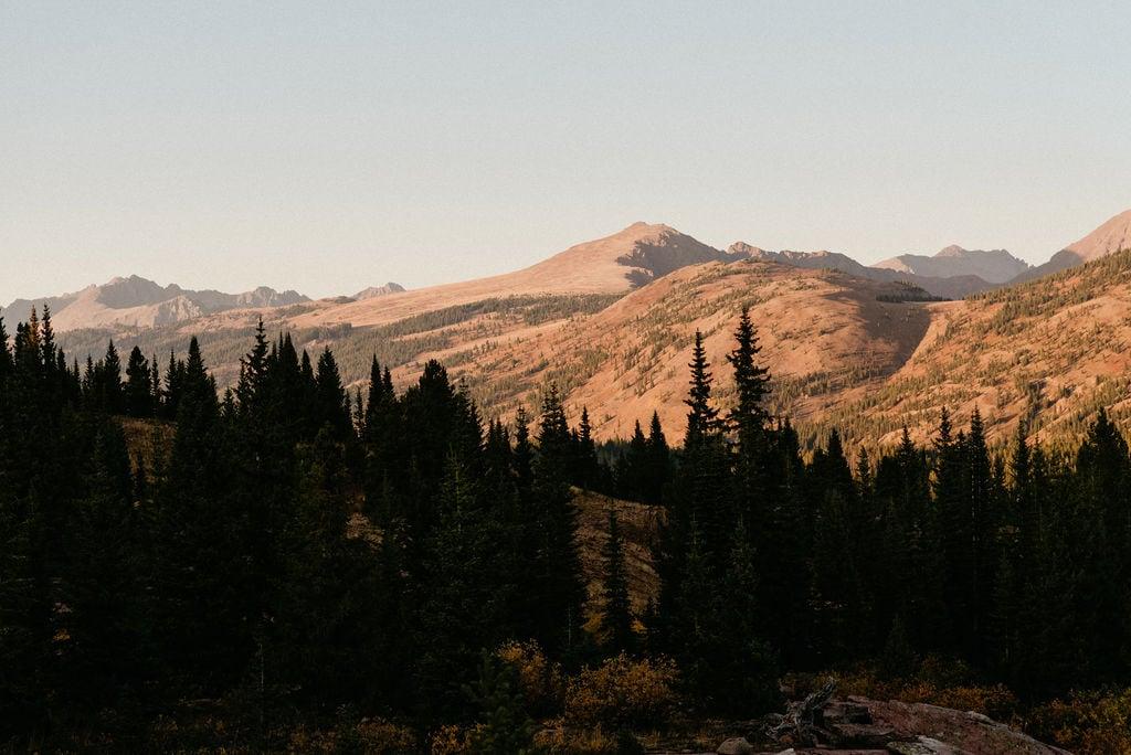 Vail Colorado Mountain Range