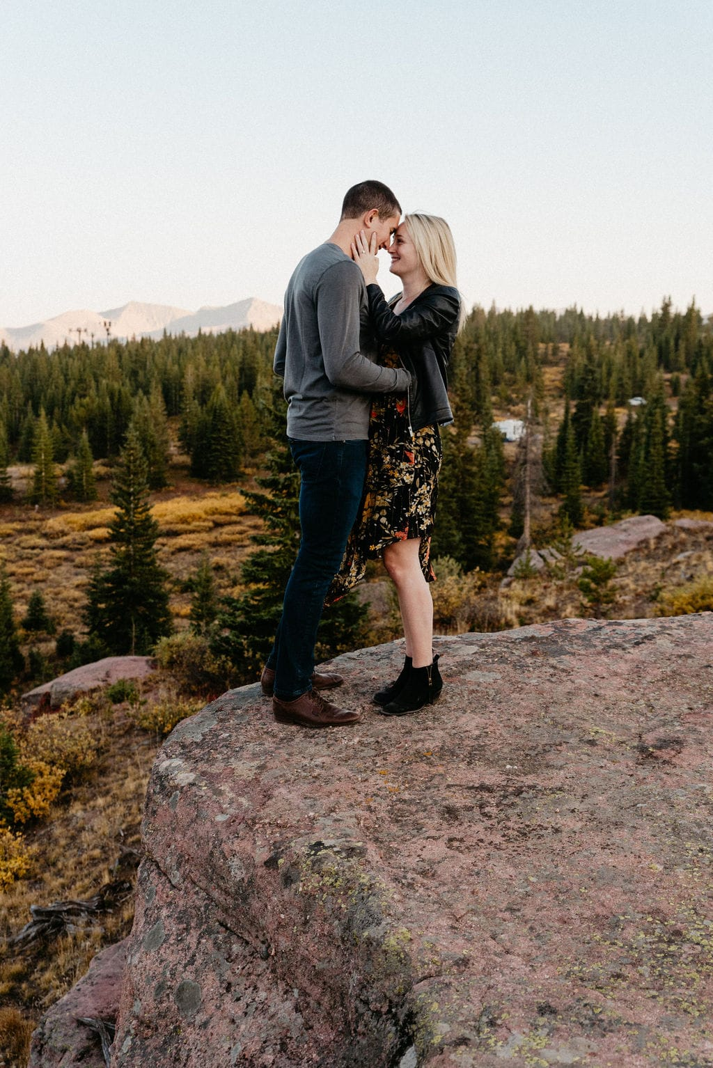 Vail Engagement Photos on Shrine Pass