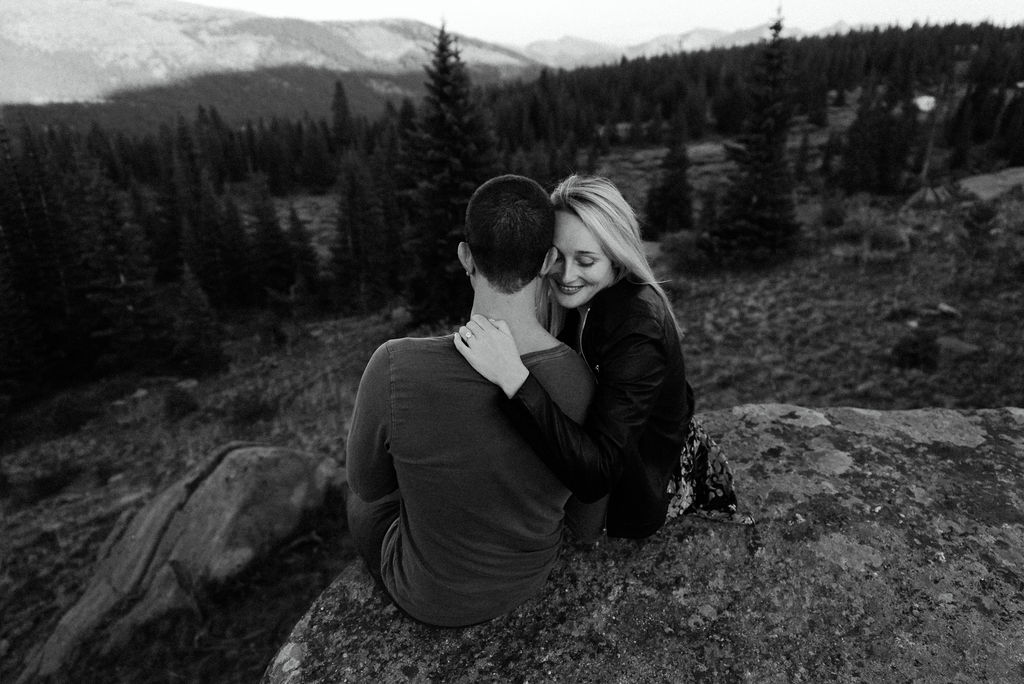 Engagement Photos on Shrine Pass in Vail Colorado