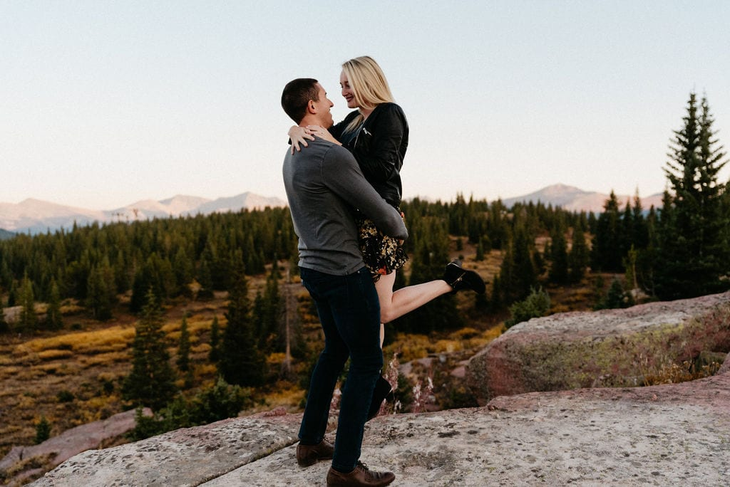Sunset Portraits on Shrine Pass in Vail