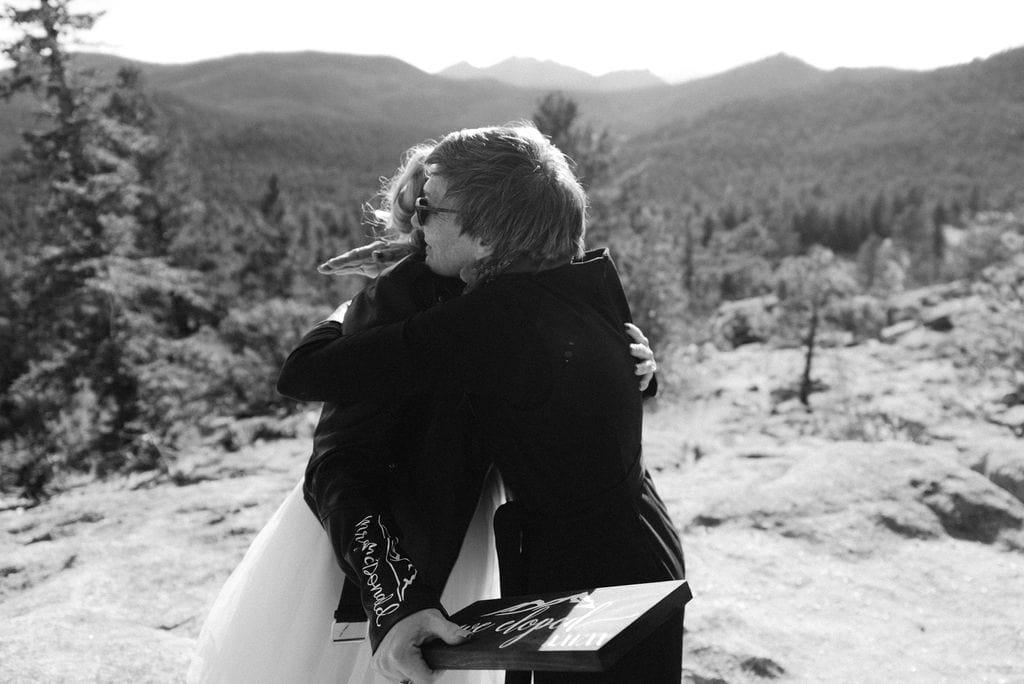 Mother hugs her Daughter in law