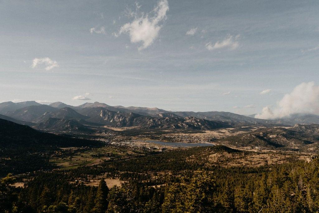 View of the 2020 wildfires near estes park colorado