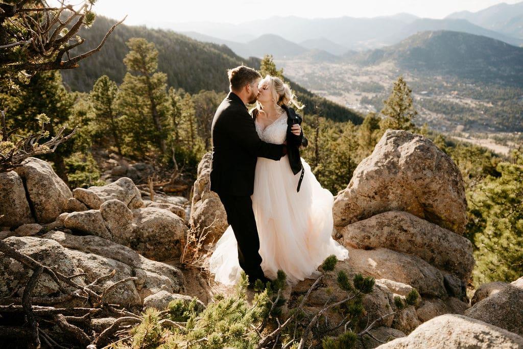 Hermit Park Elopement Romantic Golden Hour Wedding Portraits Estes Park