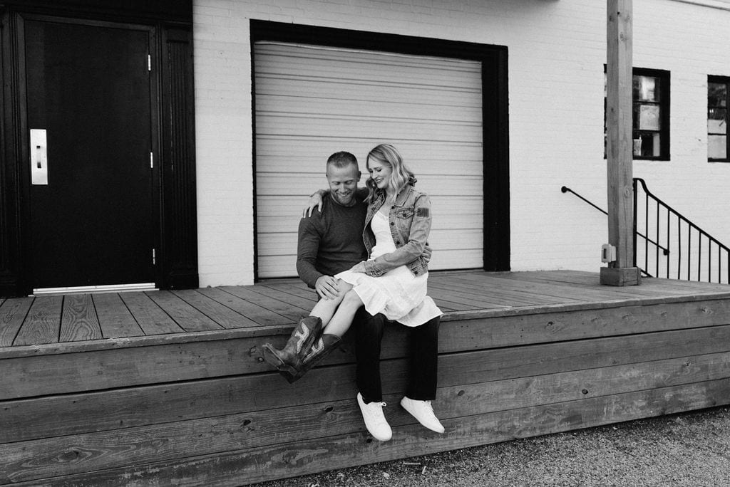 Downtown Mckinney Engagement Session
