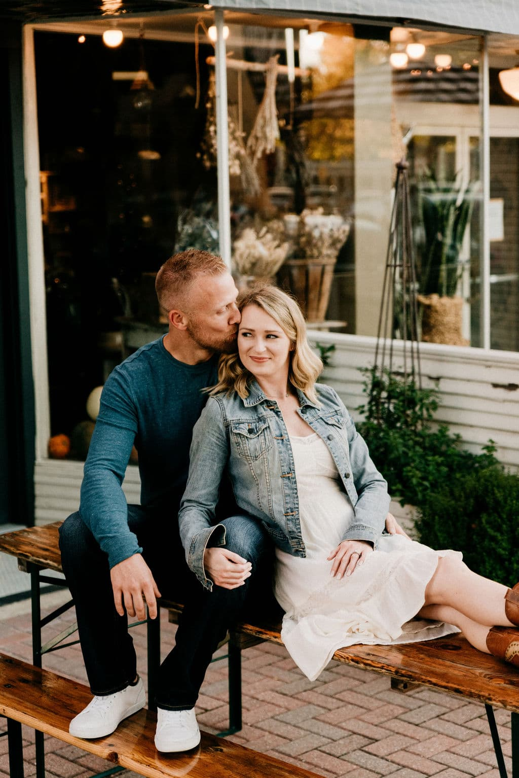 Engagement Session in Downtown Mckinney Square