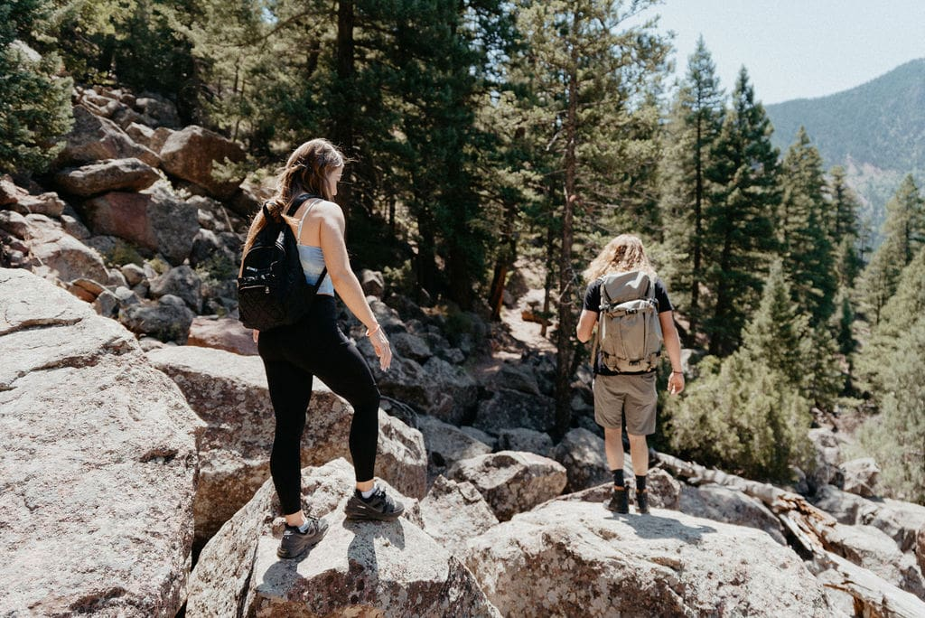 Romantic Hiking Engagement Session in Boulder