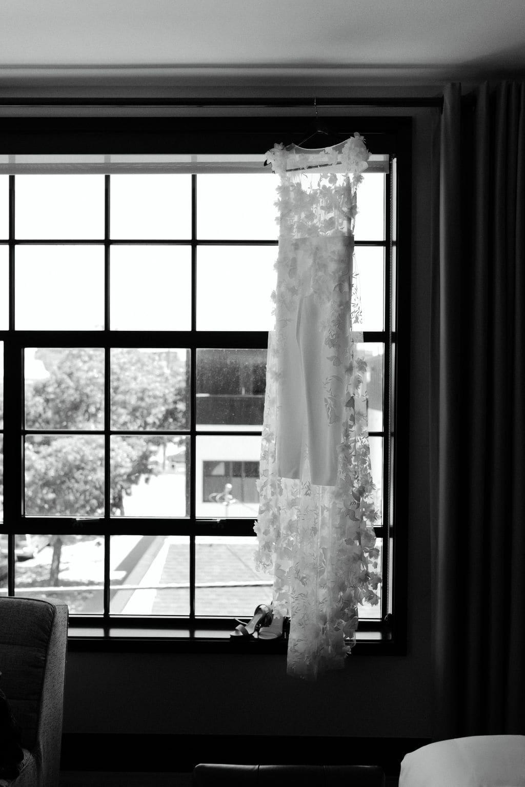 Custom made bridal jumpsuit for Denver Colorado Elopement