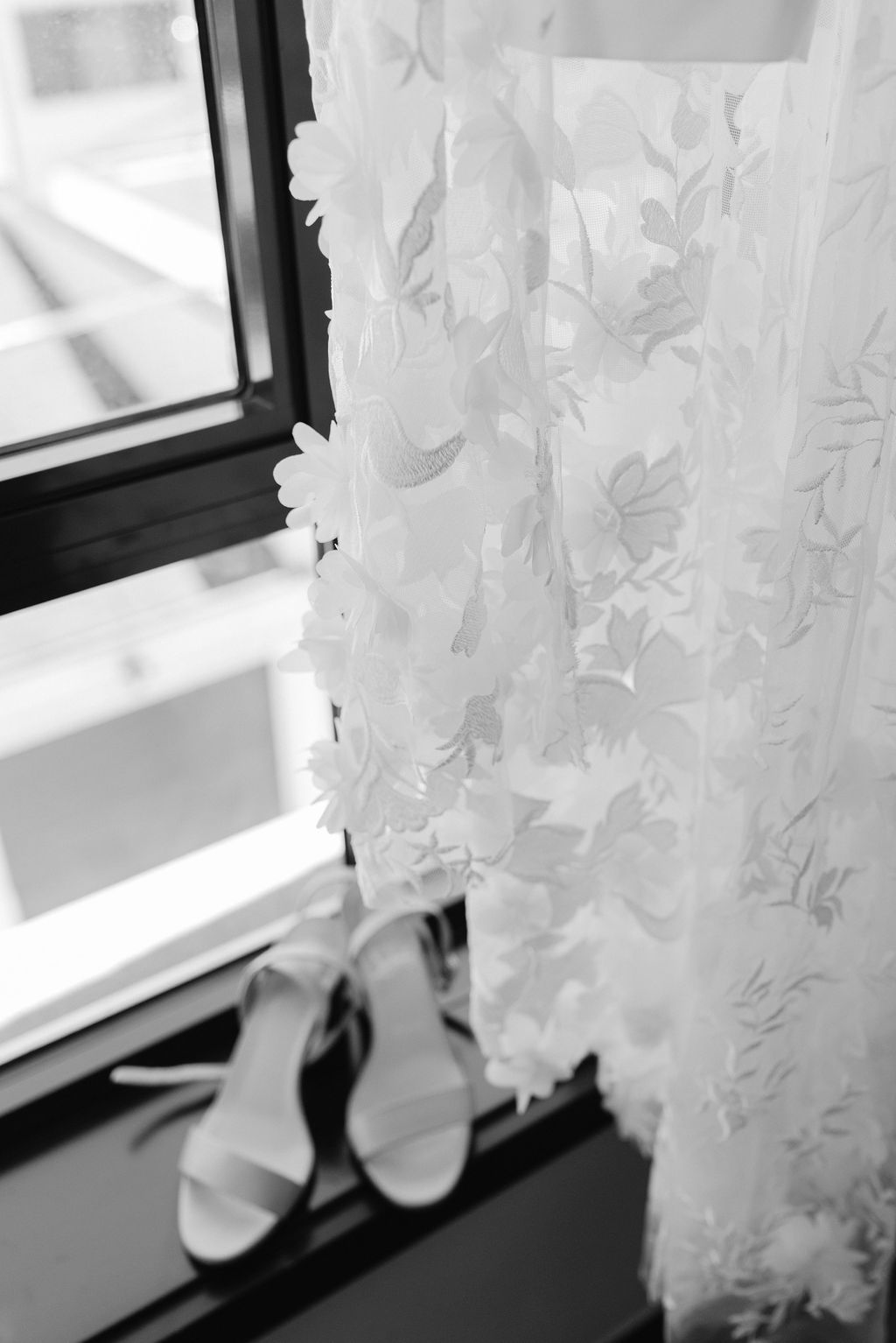 The Lace Detail on custom made bridal jumpsuit for Denver Colorado Elopement
