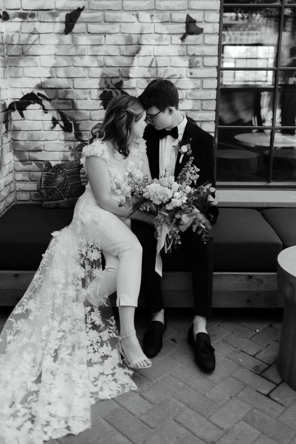 Bride and Groom Portraits at Denver Colorado Elopement at the Ramble Hotel