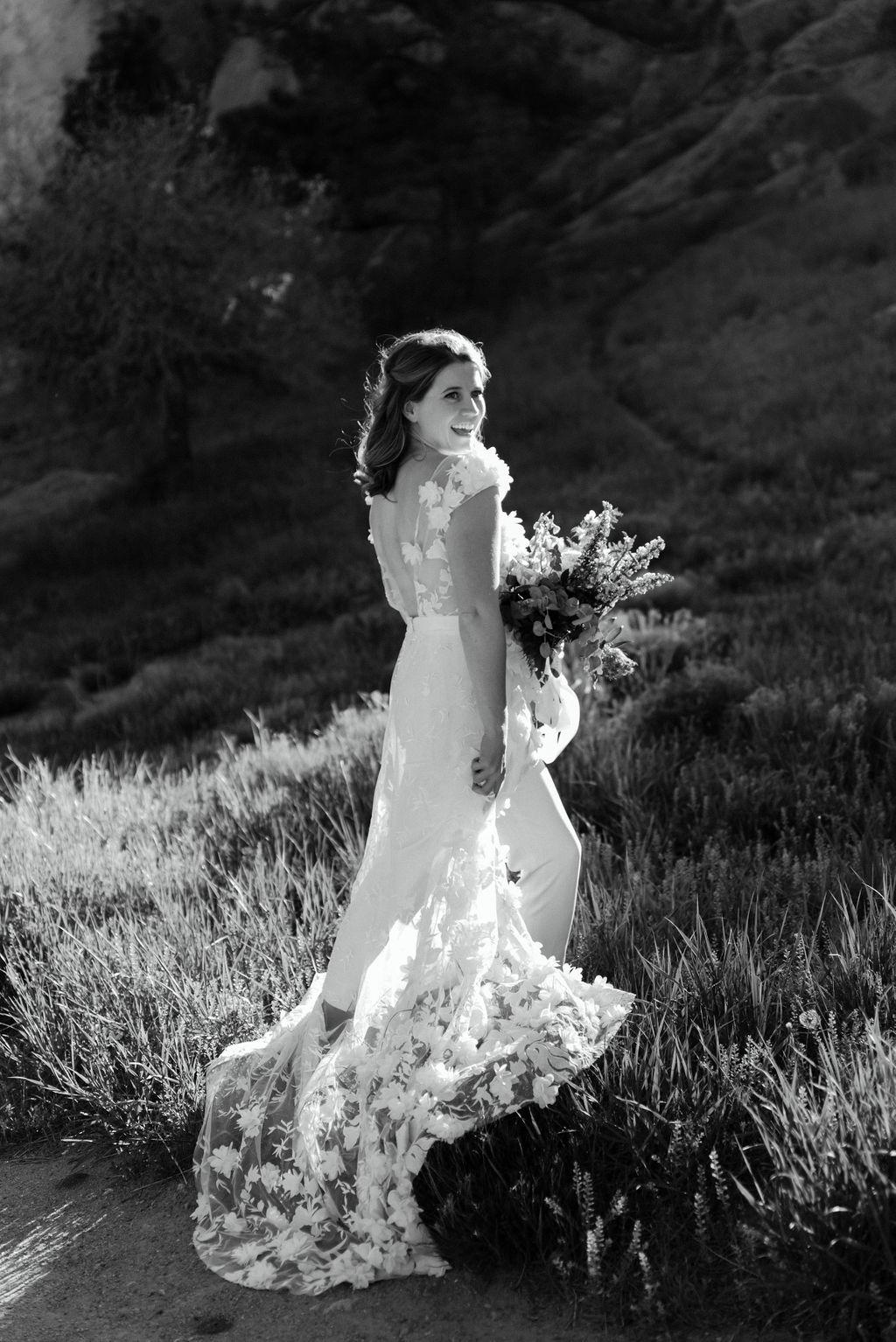 Beautiful Bride in Settlers Park Boulder