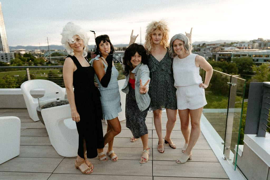 Decade Dinner with Friends on Rooftop in Denver Colorado