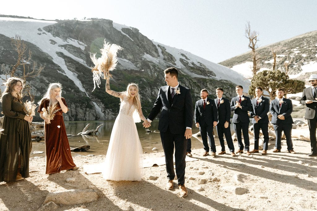 Married at St Marys Glacier in Colorado