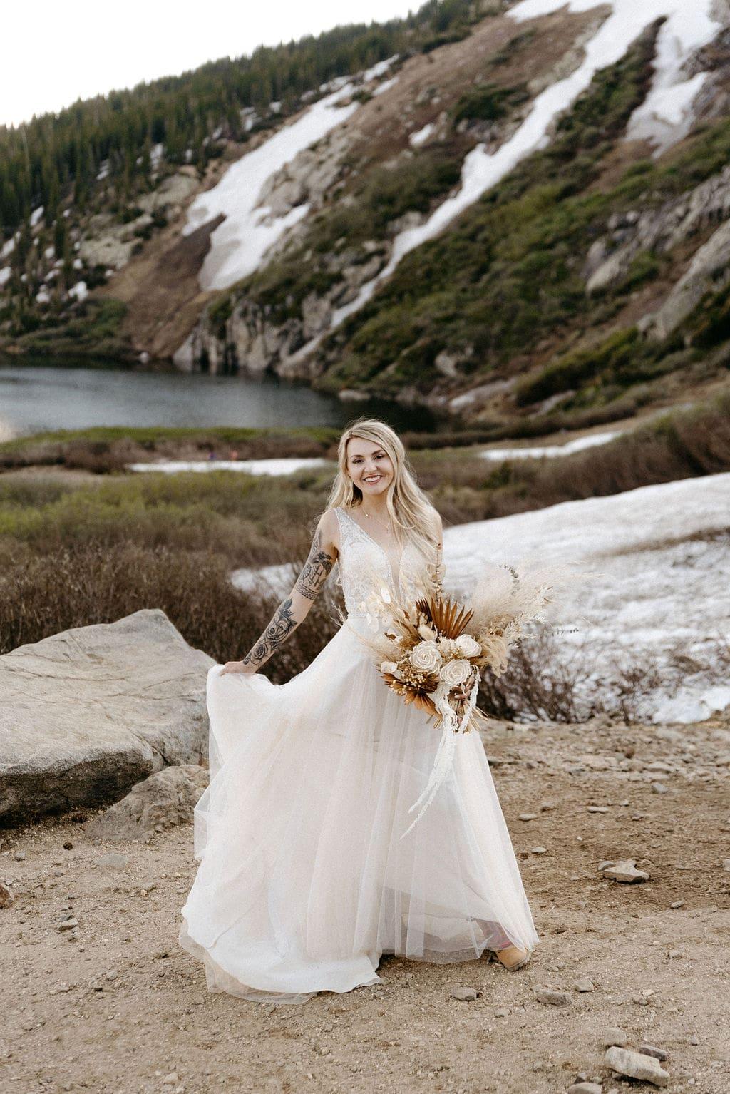 Bridal Portraits at St Mary's Glacier