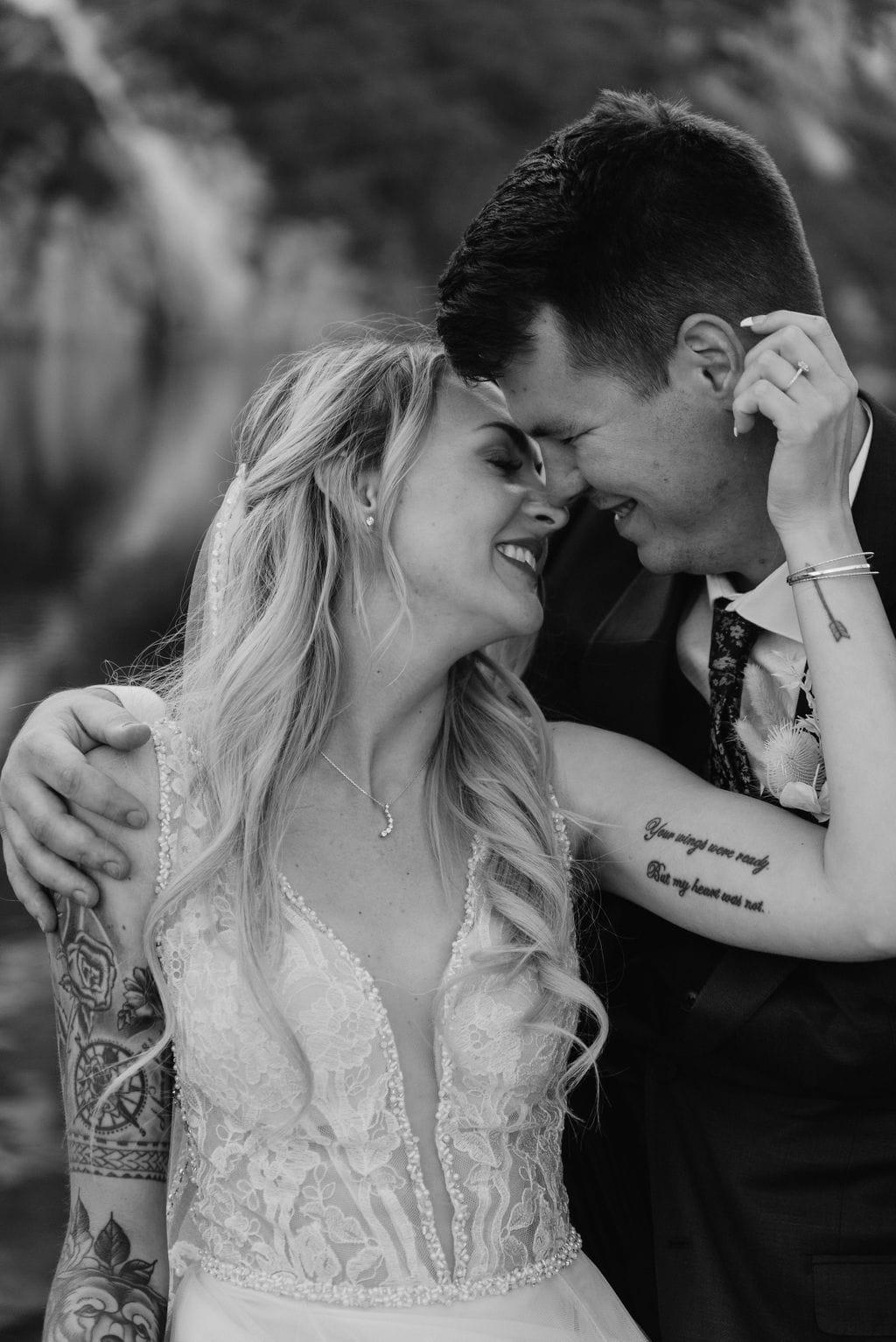 Romantic wedding portraits by St Marys Glacier