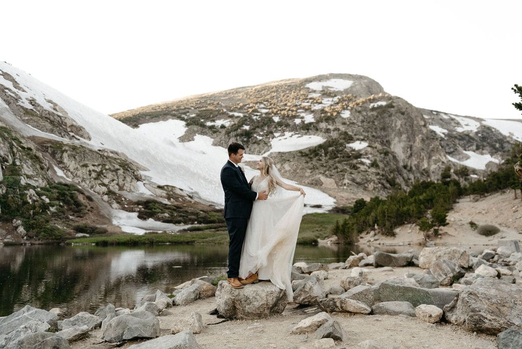 Gorgeous Mountain Elopement in Colorado at St. Marys Glacier