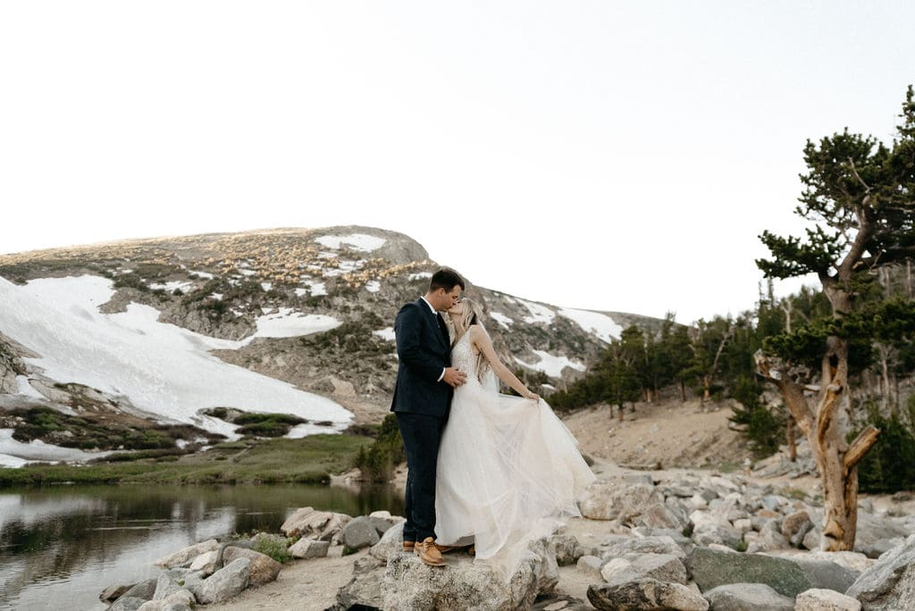 St Mary's Glacier Hike on wedding day
