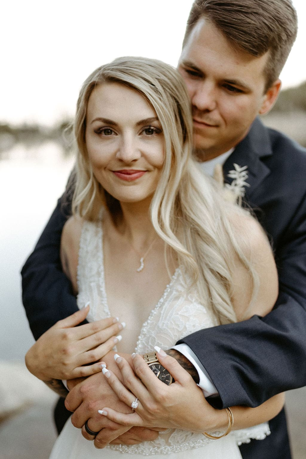 Bride and Groom Portraits at Colorado Elopement