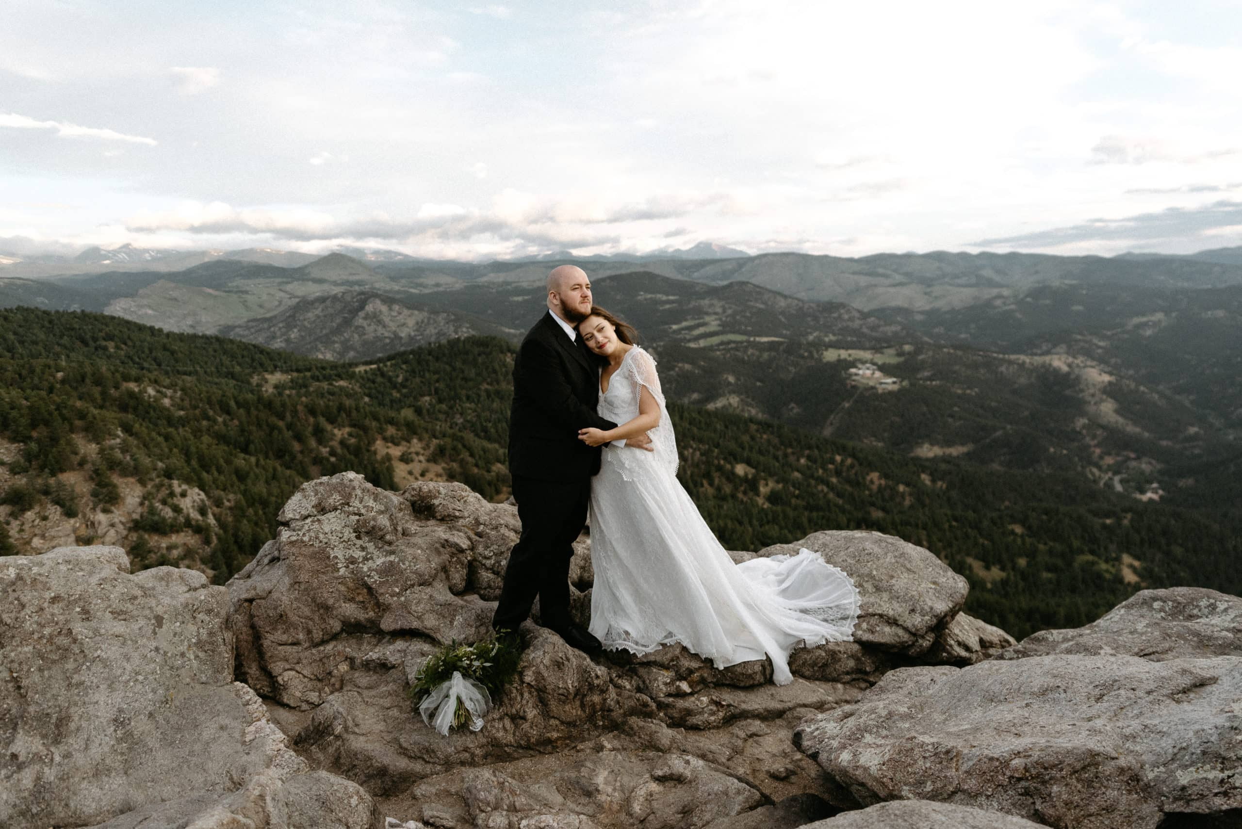 Romantic Bride and Groom Elope at Lost Gulch in Boulder