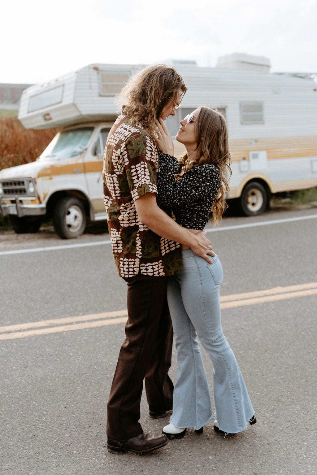 Camper Van Engagment Session in Colorado