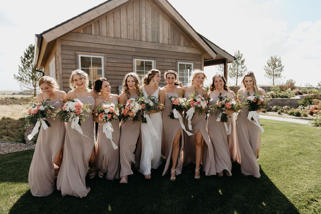 Bride and her Bridesmaids at Bonnie Blues Event Venue