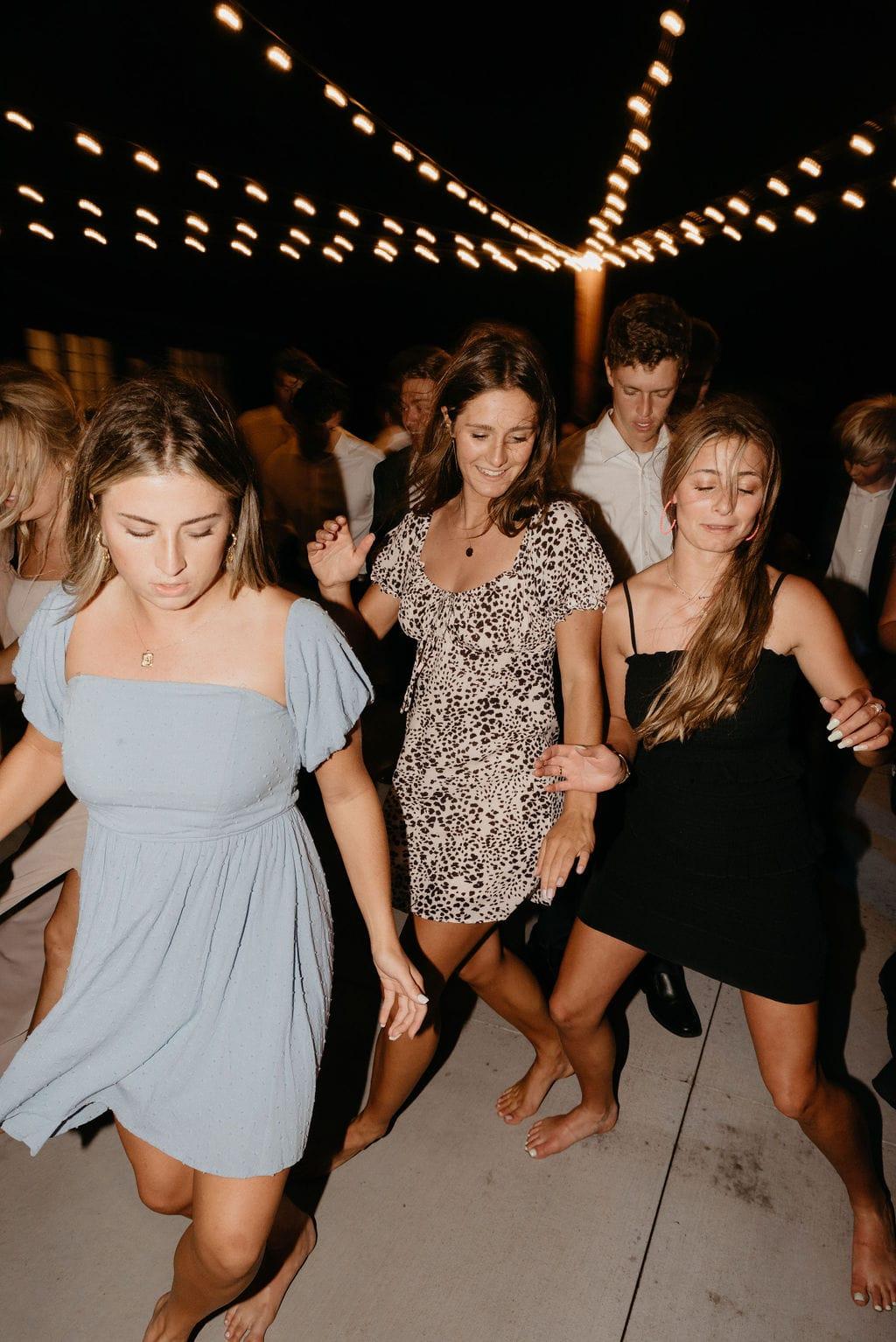 Fun nighttime dance reception photos