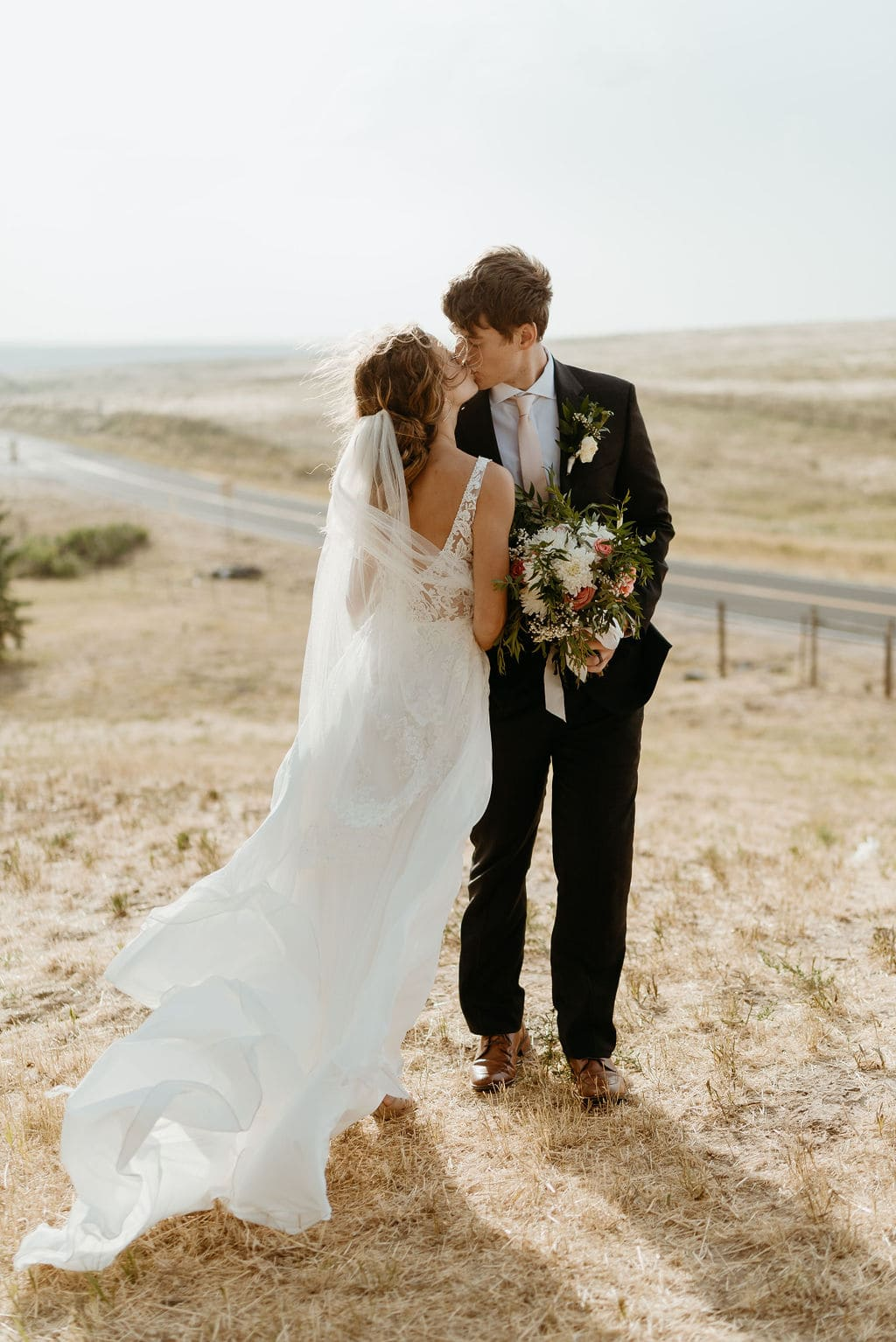 Romantic and Windy Film Inspired Bride and Groom Portraits at Bonnie Blues Event Venue