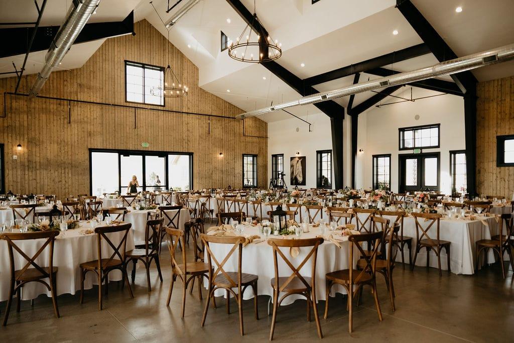 The Beautiful Reception Space at Bonnie Blues Event Venue