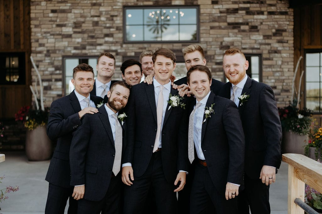 Groom and Groomsmen at Bonnie Blues Event Venue